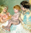 Cassatt Mary Sara and Her Mother with the Baby
