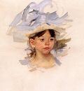 Cassatt Mary Sketch of Ellen Mary Cassatt in a Big Blue Hat