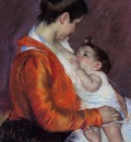 Cassatt Mary Louise Nursing Her Child