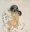 cassatt mary mothers kiss