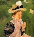 Cassatt Mary Portrait Of A Young Girl