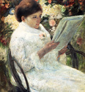 Cassatt Mary Woman Reading In A Garden