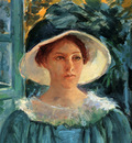 Cassatt Mary Young Woman In Green Outdoors In The Sun