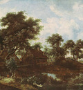 Hobbema Meyndert The Water Mill Oak Dresden