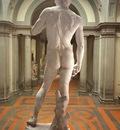 Michelangelo David rear view