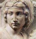 Michelangelo Madonna Tondo Pitti detail1