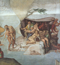 Michelangelo Sistine Chapel Ceiling Genesis Noah 7 9 The Flood right view