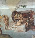 Michelangelo Sistine Chapel Ceiling Genesis Noah 7 9 The Flood right view