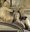 Michelangelo Tomb of Giuliano de Medici detail Day