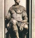 Michelangelo Tomb of Giuliano de Medici detail Guiliano de Medici