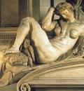 Michelangelo Tomb of Giuliano de Medici detail Night