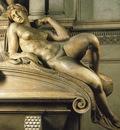 Michelangelo Tomb of Lorenzo de Medici detail Dawn