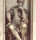Michelangelo Tomb of Lorenzo de Medici detail Lorenzo de Medici