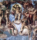 Sistine Chapel Last Judgement detail EUR