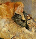 Morisot Berthe Little Girl with a Doll
