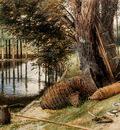 Foster Myles Birket Eel Pots On The banks Of A River