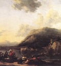 BERCHEM Nicolaes landscape With Jacob Rachel And Leah
