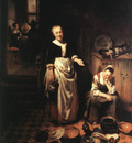 MAES Nicolaes The Idle Servant