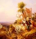 Simonsen Niels Arabs In A Hilltop Fort