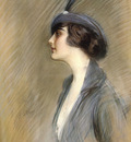 Helleu Paul Cesar Portrait Of Clara Weil