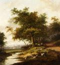 Morel Jan Evert A Shepherdess And Her Flock At Rest
