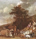 POTTER Paulus Landscape With Shepherdess And Shepherd Playing Flute