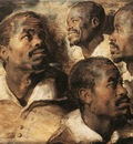 Rubens Four Studies of the Head of a Negro