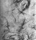 Rubens Portrait of a Young Woman Chalk