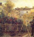 Claude Monet Painting in his Garden at Arenteuil