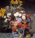Renoir Auguste Mixed Flowers In An Earthenware Pot