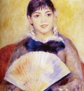 Renoir Pierre Auguste Girl With A fan