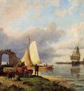 Dommersen Pieter Christiaan On The Spaarne Haarlem
