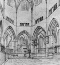 SAENREDAM Pieter Jansz Interior Of The Choir Of St Bavo At Haarlem