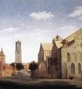 SAENREDAM Pieter Jansz St Marys Square And St Marys Church At Utrecht