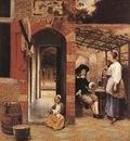 HOOCH Pieter de Drinkers in the Bower