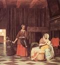 HOOCH Pieter de Suckling Mother and Maid