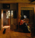 Hooch Pieter de Interior with a Mother delousing her child s hair known as A Mother s duty