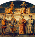 perugino pietro fortitude and temperance with six antique heroes