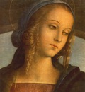 Perugino Pietro The Madonna between St  John the Baptist and St  Sebastian 1493 detail1