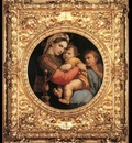 Raphael Madonna della Seggiola framed