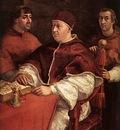 Raphael Pope Leo X with Cardinals Giulio de Medici and Luigi de Rossi
