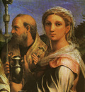 Raphael St Cecilia with Sts Paul John Evangelists Augustine and Mary Magdalene detail1