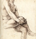 Raphael Study for Adam