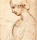 Raphael Waist length Figure of a Young Woman