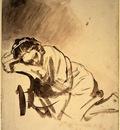 Rembrandt Hendrickje sleeping c1655