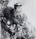 Rembrandt Jacob Caressing Benjamin