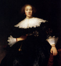 Rembrandt Portrait Of A Young Woman With A Fan