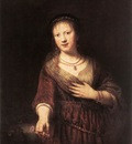 Rembrandt Portrait of Saskia with a Flower