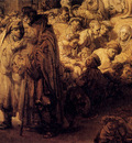 Rembrandt St John The Baptist Preaching Detail