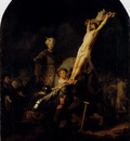 Rembrandt The Elevation Of The Cross